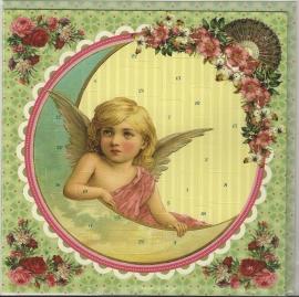 12440 Adventkalender Kaart: Dromerig engeltje in de maan