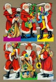 Cadeautjes Kerstman groot poëzieplaatjes MLP 778