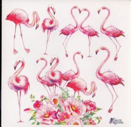 Flamingo's poezieplaatjes Stickers K46
