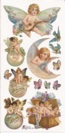 Liefdes Engeltjes poezieplaatjes Stickers P50