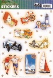 Sport en Vakantie stickers SL12