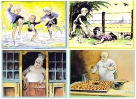 4 verschillende W.G. van de Hulst kaarten – set 3
