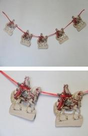 Slinger Kerstman bezorgt cadeautjes (1 meter) 9-613