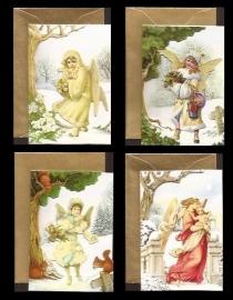 Mini 3D geschenk poezieplaatjes kaarten complete set Engelen