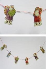 Slinger Gekleurde Kerstmannen poezieplaatjes (1 meter) 8-668