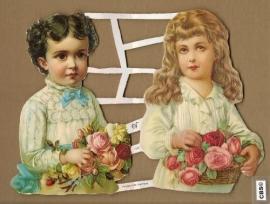 Twee nostalgische kinderen poezieplaatjes GL7087
