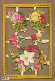 Fleurige boeketjes poezieplaatjes A 161