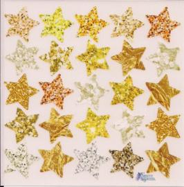 Gouden sterretjes poezieplaatjes Stickers K92