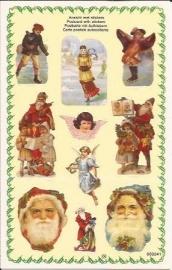 Poezieplaatjes Kerst stickers prentbriefkaart 853241