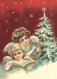 Twee engeltjes Reliefkaart EF 3050