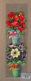 Nostalgische boeklegger bloemenpotten (poëzieplaatjes)