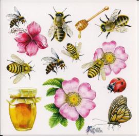 Bijen poezieplaatjes Stickers K56
