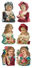 Nostalgische kindervreugd poezieplaatjes Stickers Y134