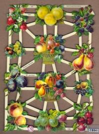 Fruit met aardbei en peer poezieplaatjes 7261