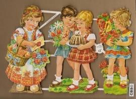 Vrolijk geklede kinderen poezie plaatjes 7042