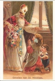 Alstublieft, Sinterklaasje prentbriefkaart [D6125]