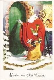 Daar is Sinterklaas prentbriefkaart [C9599]