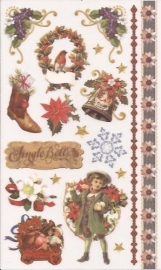 Kerst Victoriaanse Nostalgie 5 Rub on afschrijfplaatjes