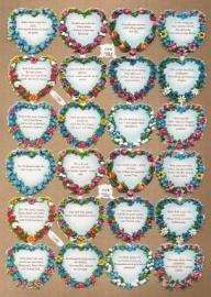 PZB 1159 Hartjes Duitse tekst poezieplaatjes