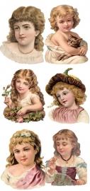 Kinderportretjes poezieplaatjes Stickers Y146