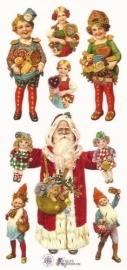 Kerstmis met lebkuchen poezieplaatjes Stickers P25