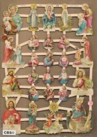 Heiligen figuurtjes religie poezieplaatjes GL7318