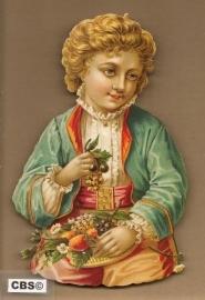 Nostalgisch jongetje eet fruit poezieplaatjes 5013