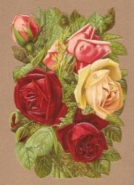 Prachtig Rozenboeket poezieplaatjes 5163