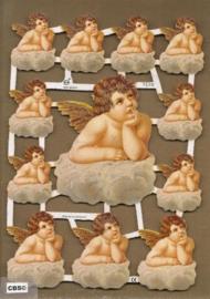 Dromerige Engeltjes op wolk poezieplaatjes GL7158