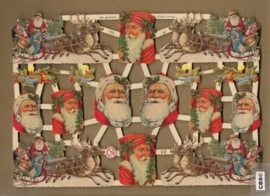 Arreslee met Kerstman poezieplaatjes 7260