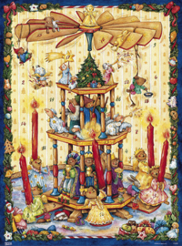 11680 XL Adventskalender: Advents pyramide met Beren