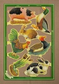 C5022: Boerderijdieren met konijn poezieplaatjes