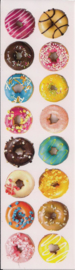 Donuts poezieplaatjes Stickers Strip QT07