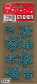 Sneeuwvlokjes glinster Stickers IJsblauw