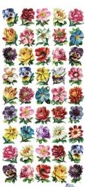 Hele kleine bloemetjes poezieplaatjes Stickers C57