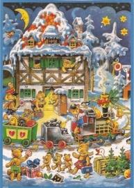 10104 Teddyberen kersttrein Adventskalender