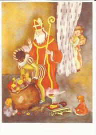 Veel cadeautjes van Sinterklaas prentbriefkaart [C8230]
