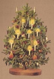 Verlichte Kerstboom poezieplaatjes 5156