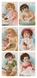 Kindjes helpen in huis poezieplaatjes Stickers Y173
