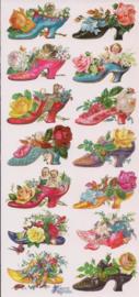 Bloemenschoentjes poezieplaatjes Stickers P73