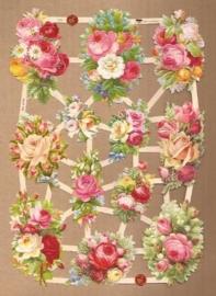 Zacht roze roosboeketjes poezieplaatjes 7372