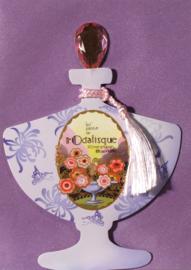 Parfumfles met edelsteen stop Kaart: L'Odalisque [EC-5702]