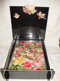 Display met poezieplaatjes - 100 met glitter en 100 zonder glitter assorti