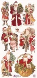 Cadeautjes kerstmannen poezieplaatjes Stickers P40
