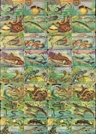 Mokta Williot Trade Cards Vissen & Reptielen poezieplaatjes 1452