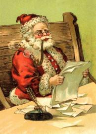 Kerstman leest brief Reliefkaart EF 3067