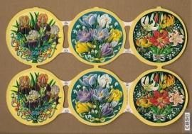 Bloemenrondjes met Lelies poezieplaatjes MLP 1210