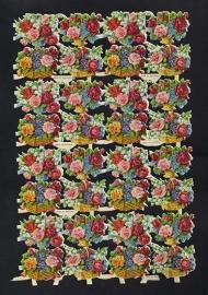M.P. 768 Bloemenmandjes poezieplaatjes