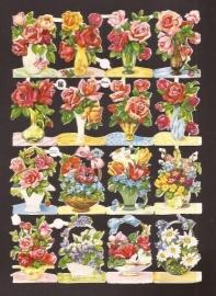 3146 EAS Bloemenboeketjes oude poëzieplaatjes