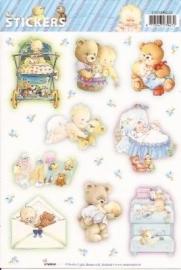 Baby jongen geboorte stickers SL04